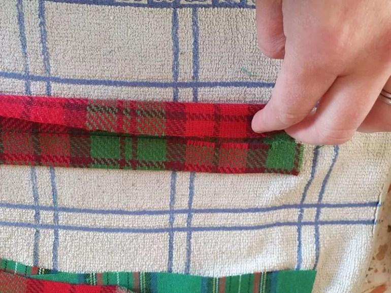fold outside edges into centre fold line