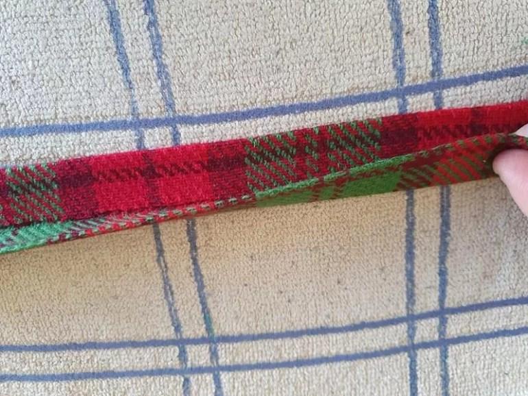 folded fabric like handmade binding