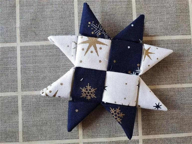 navy and white christmas scandinavian star