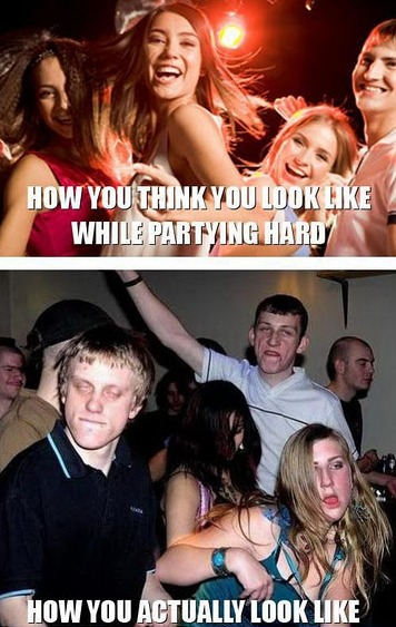 partying