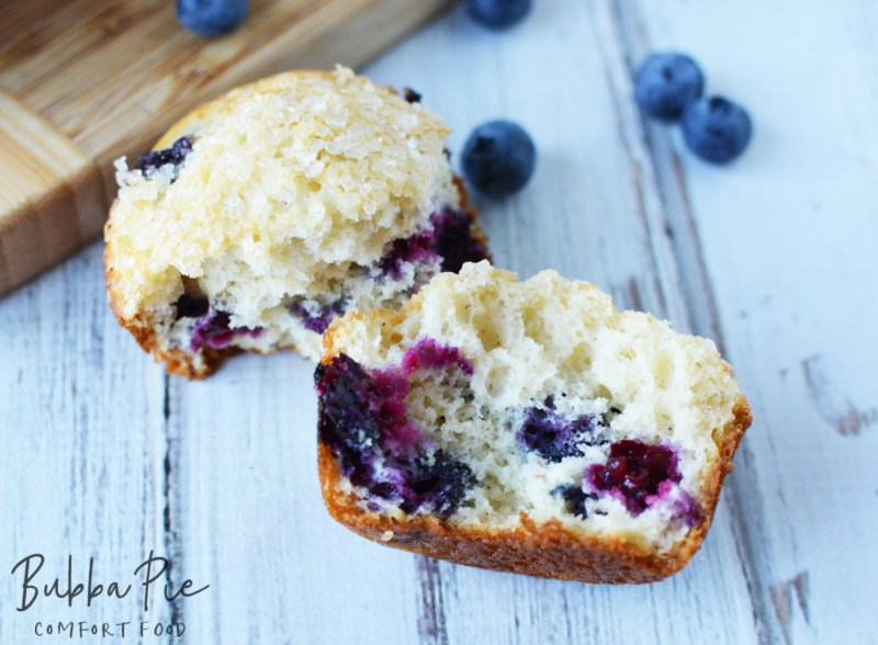 easy banana blueberry muffins are so light and fluffy on the inside