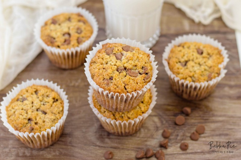 Chocolate Chip Muffin Recipe is quick and easy and the oats give you a breakfast boost