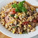 cowboy pasta salad is a great side dish for picnics or parties
