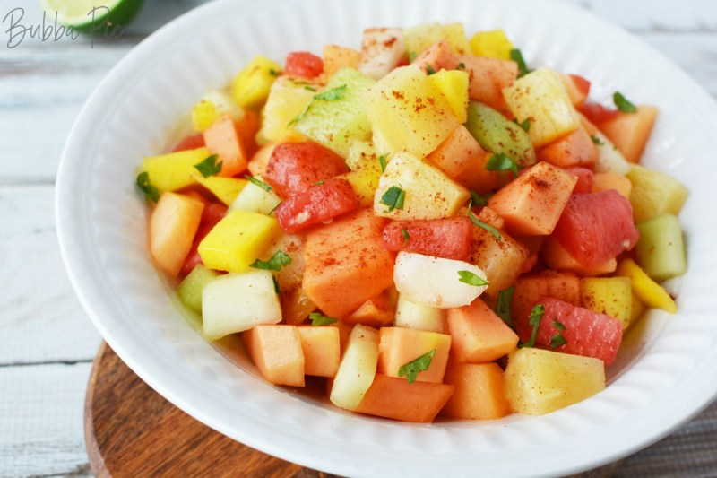 Mexican Fruit Cocktail is great for picnics, cookouts or pitchins