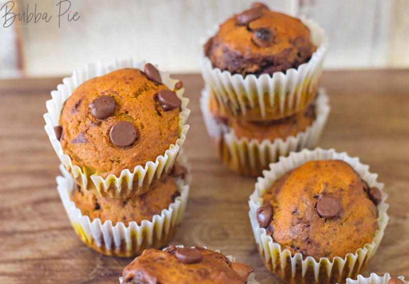 Pumpkin Chocolate Chip Muffins Recipe mixes decadent chocolate chips with pumpkin spice.