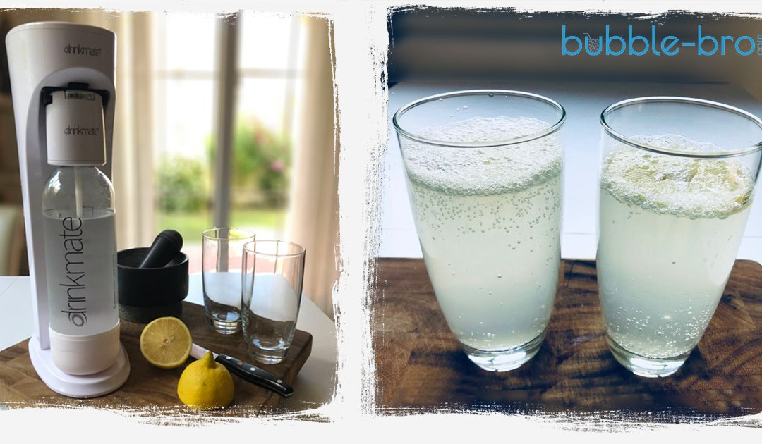 Keeping it simple with sparkling lemon or lime water