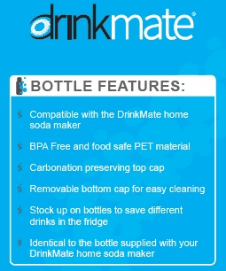 features - 1 litre DrinkMate bottle