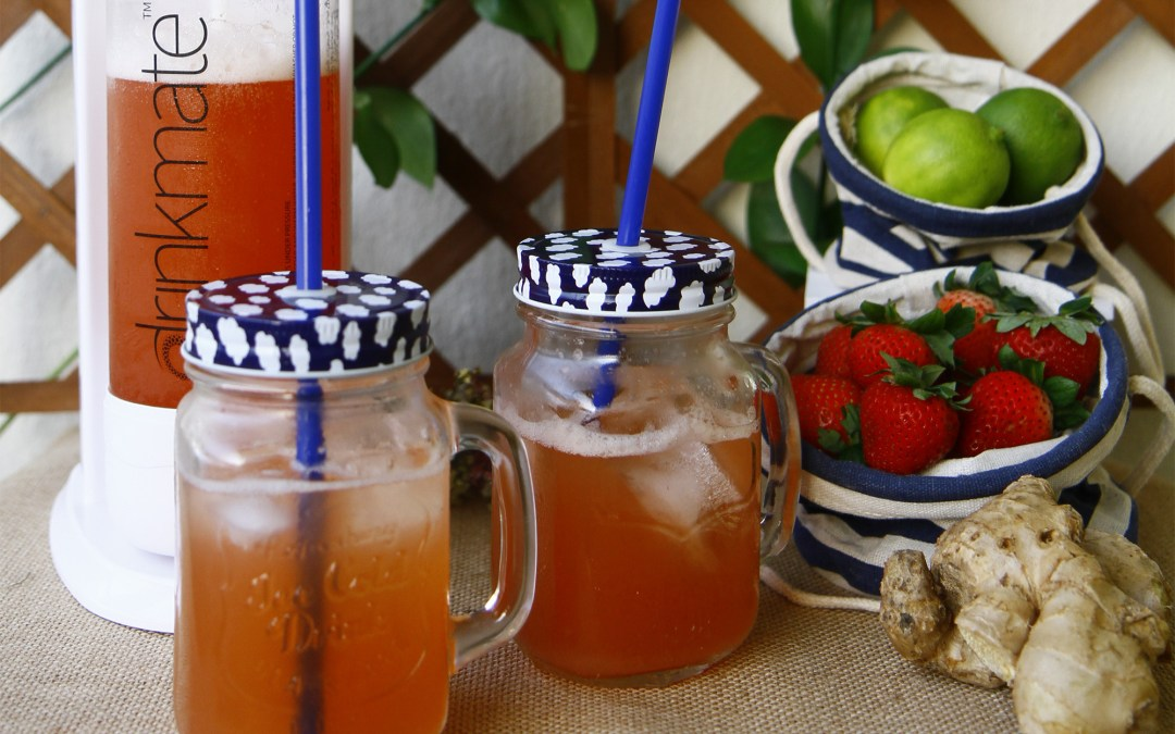 Fresh Strawberry-Lime Ginger Ale Recipe