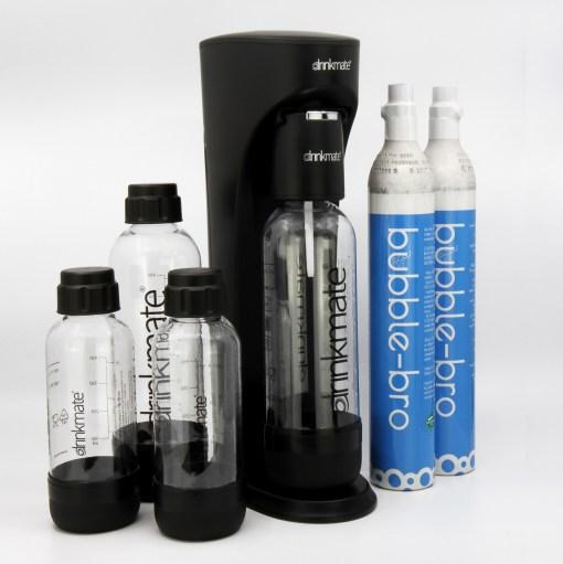 bubble-bro - picture of black home soda maker family pack