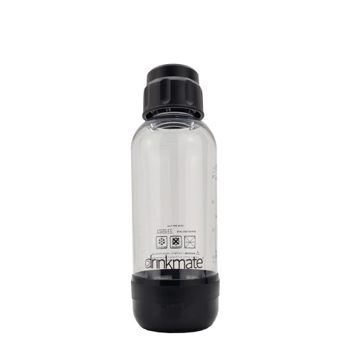 bubble-bro - picture of Black small Drinkmate bottle with cap on