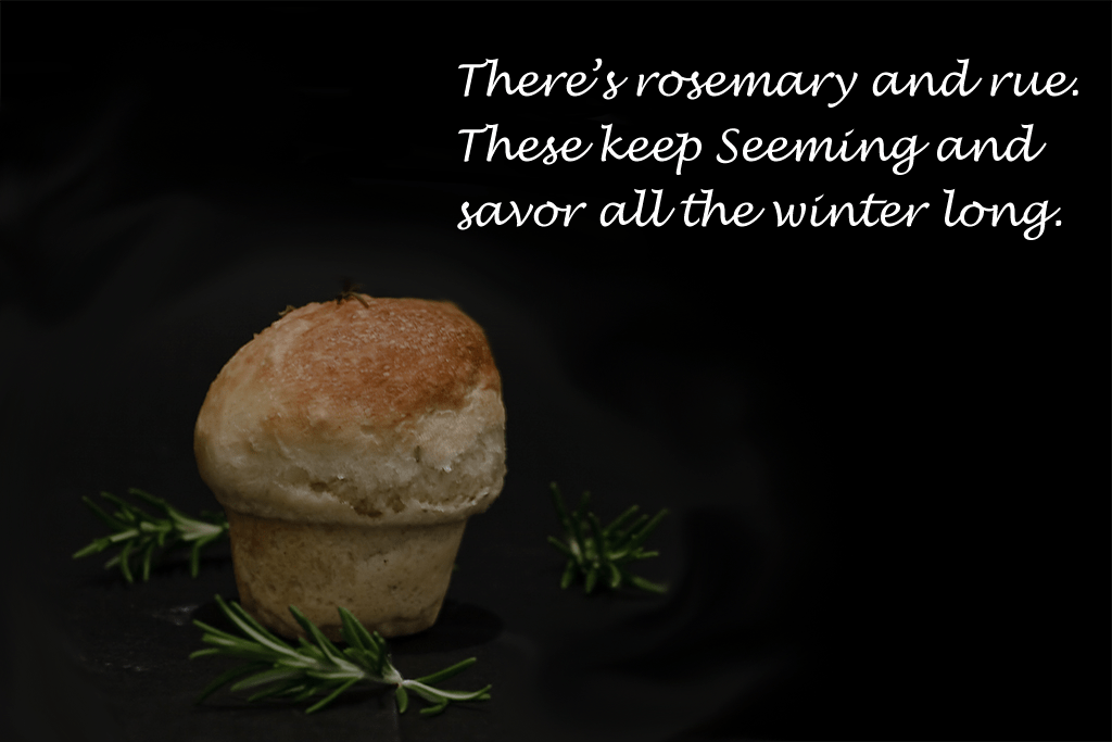 Rosemary and smoked sea salt roll