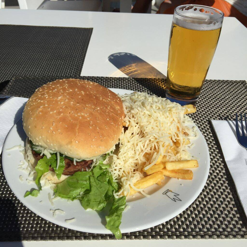 Burger, Chips and Beer - post ride