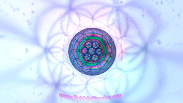 hexagon, bubble, art, geometry, iridescence, flower of life, psychedlic, rainbow