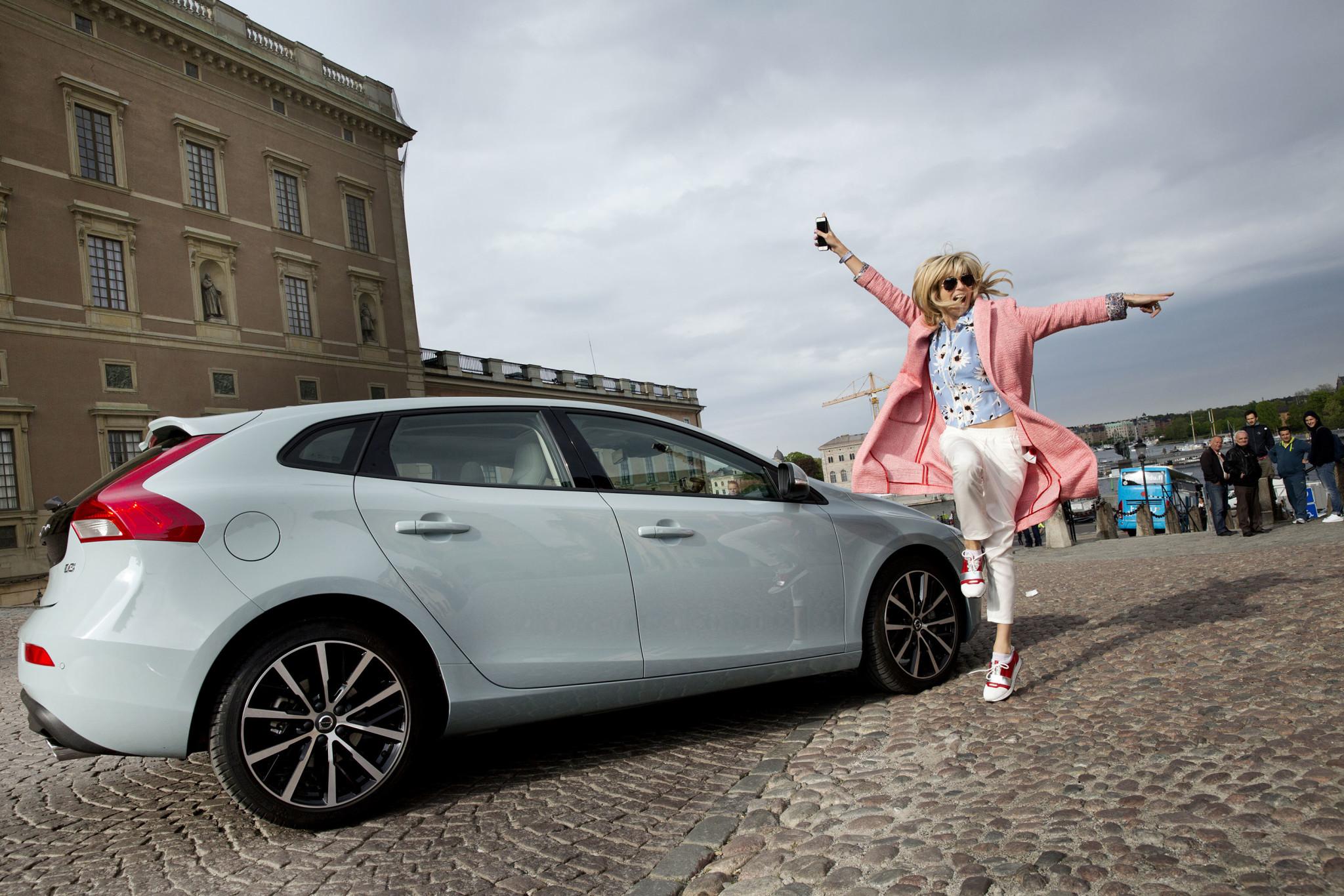 Volvo V40 City Experience. Stockholm Sweden. Bloggers visiting Stockholm. Photo : Rickard Kilström 2016-05-19