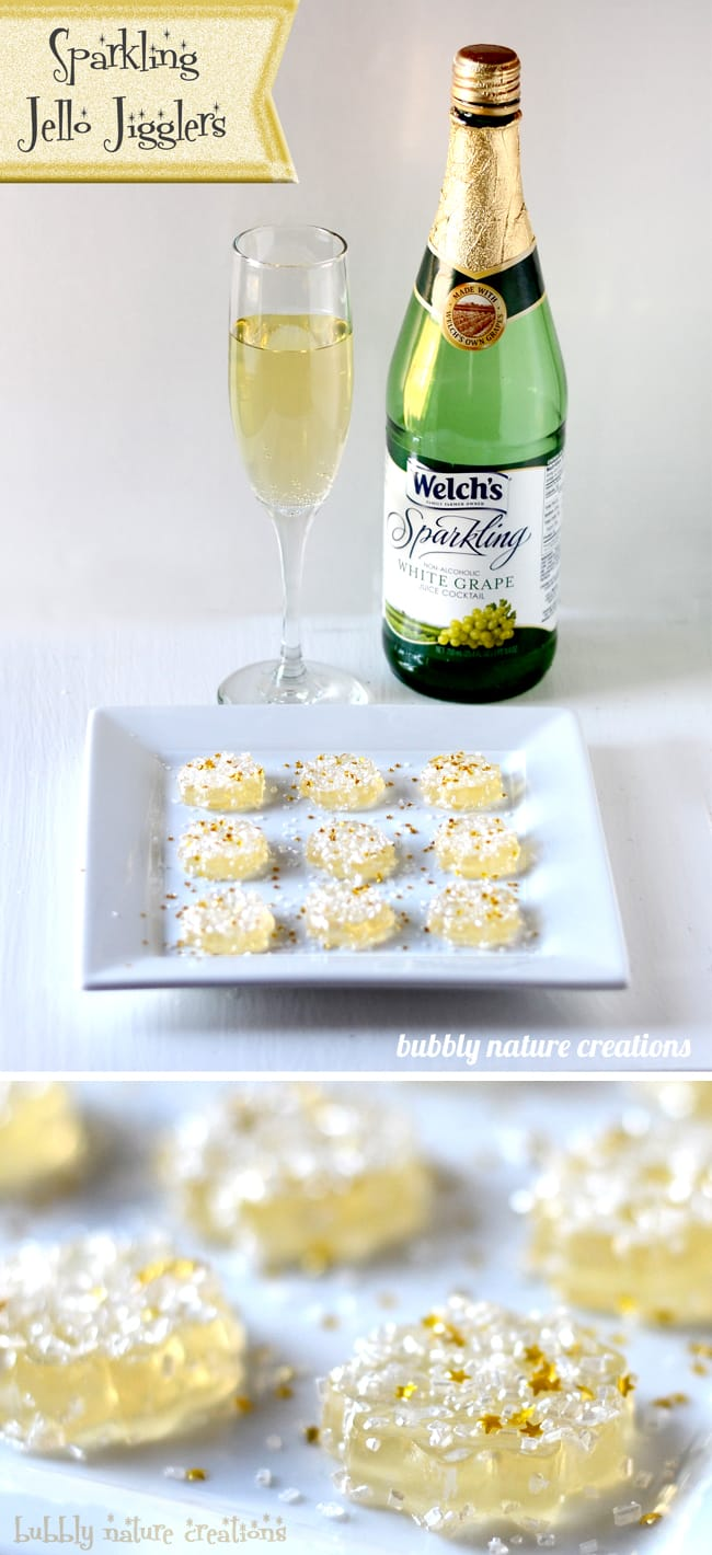 Sparkling New Year S Eve Nails Tutorial: Sparkling Jello Jigglers! {New Years Eve Party}