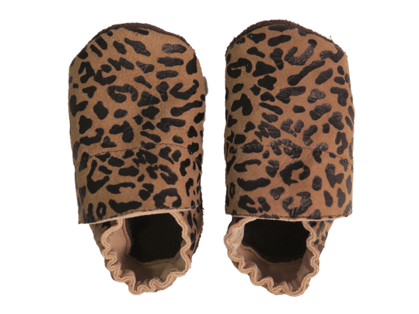 animal print_brown baby leather shoes