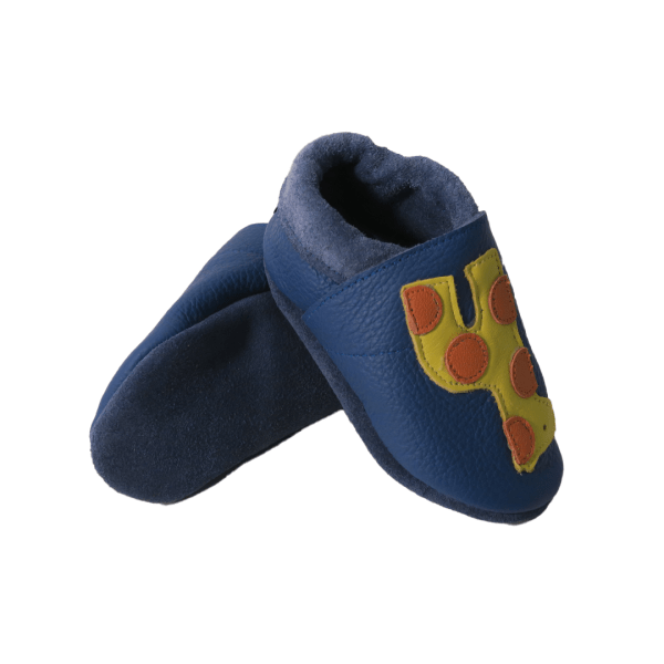 blue giraffes baby leather shoe soles