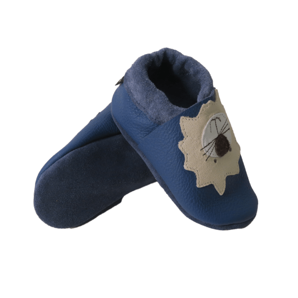 blue lions baby leather shoe soles