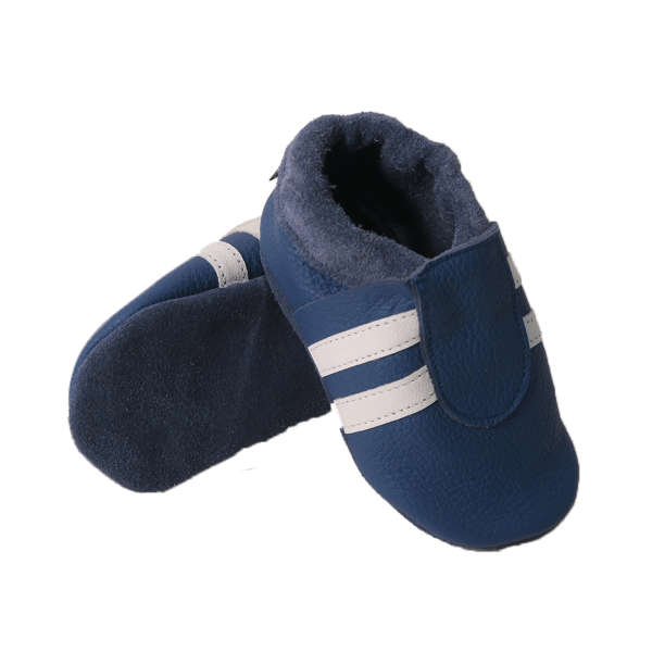blue white sport baby leather shoe soles