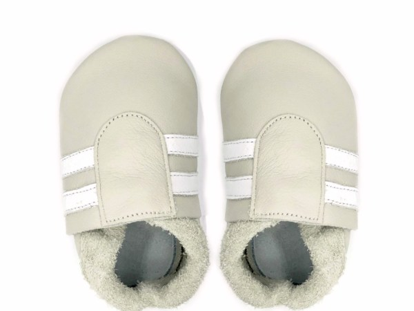 cream white sport baby leather shoes