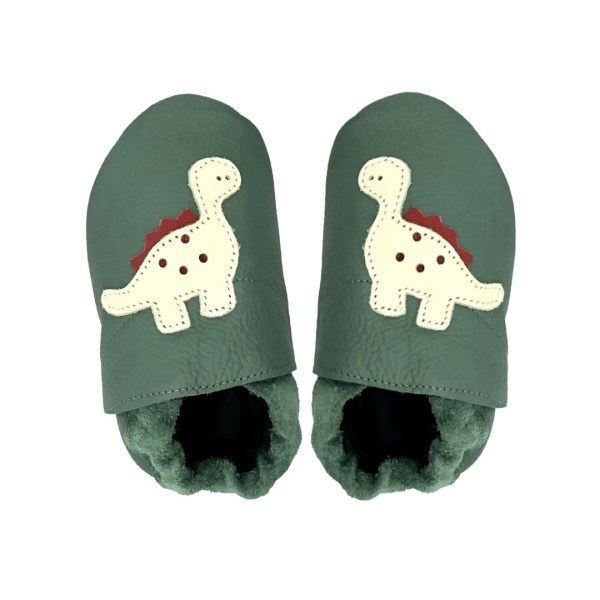 forest dino baby leather shoes