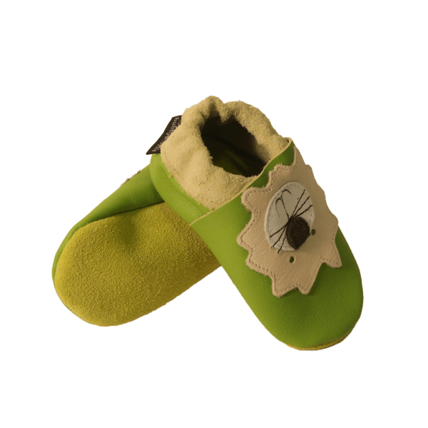 green lions baby leather shoes