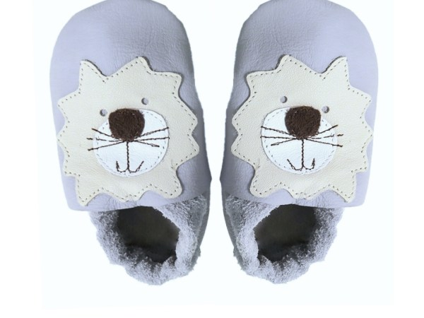 grey lion baby leather shoes
