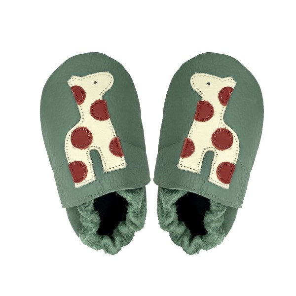 forest lion baby leather shoes