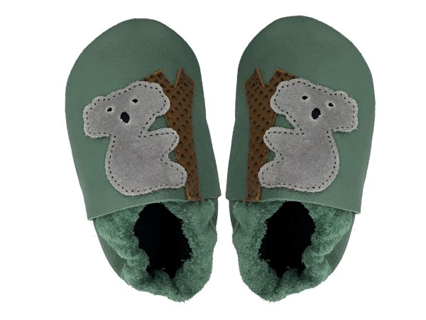 forest koala baby leather shoes