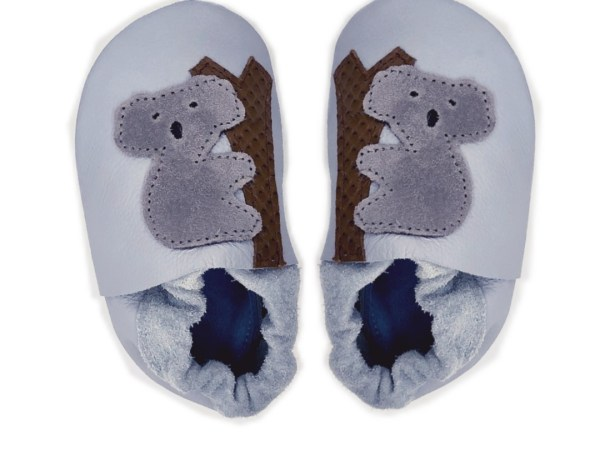 grey koala baby leather shoes
