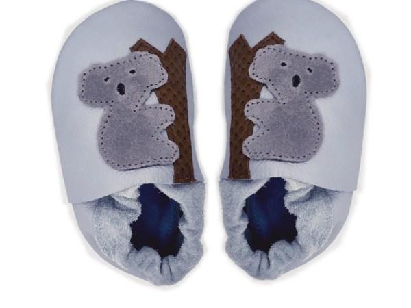 grey koala baby leather shoes