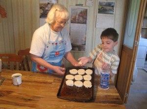 Baking cookies is a nice way to bond with grandchildren