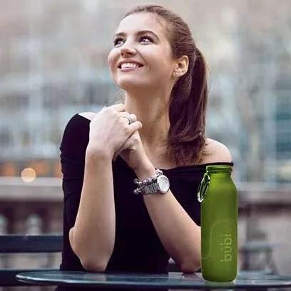 Social media, silicone water bottle, hydration, Bubi Bottle, lifestyle water bottle
