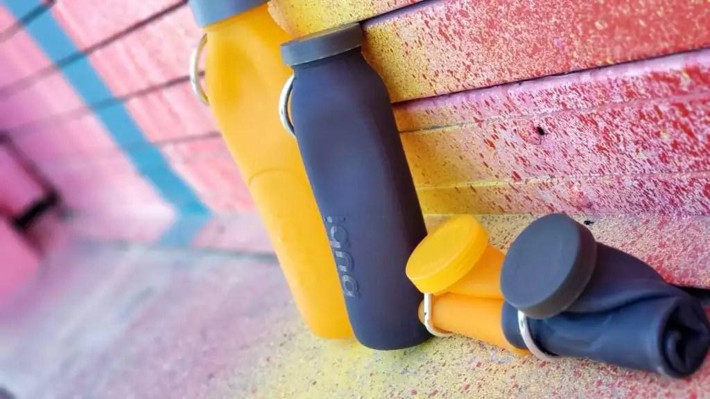portable water bottle, water bottle, roll up water bottle, portable, water, bubi bottle