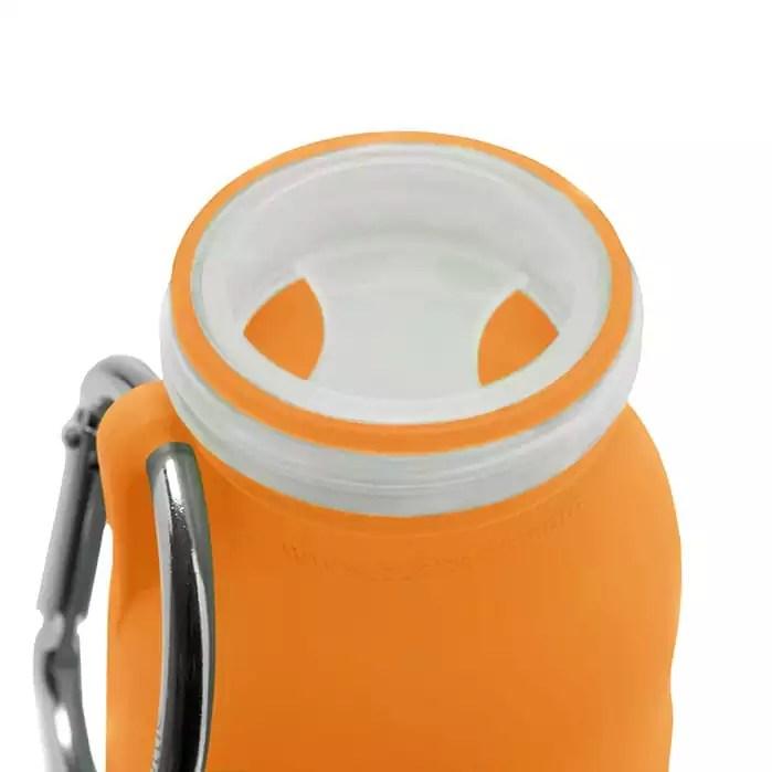Orange, silicone water bottle, Hydration, collapsible water bottle, Best water bottle, sports bottle, hiking bottle,