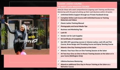 Classic Lashes Training 10 WEEK MASTER COURSE