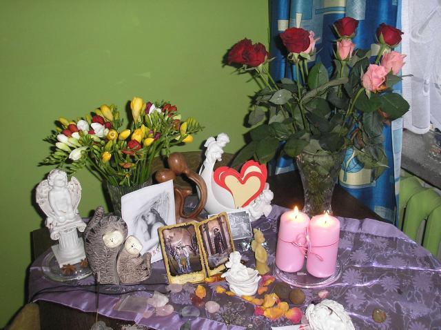Zdjecie oltarzyka z okazji Rytualu Transferu Wenus od Renatki