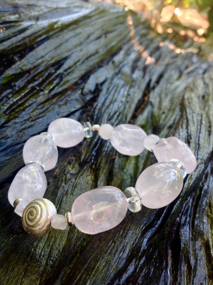 bransoletka od Marii bucardi kwarc rozowy