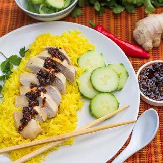 Pui Malaezian. Pui aromat cu ingrediente asiatice, orez si ardei iute.