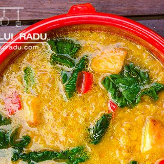 Supa libaneza de linte cu mangold si cartofi.