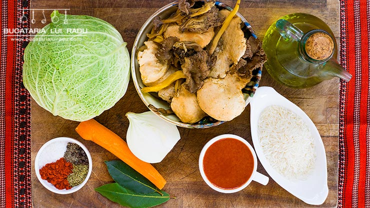 ingrediente sarmale cu ciuperci