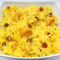 Mishti Pulao - Pilaf dulce bengalez cu Stafide si Caju