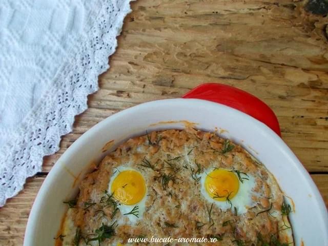 Tartă Dukan cu ton şi ouă de prepeliţă