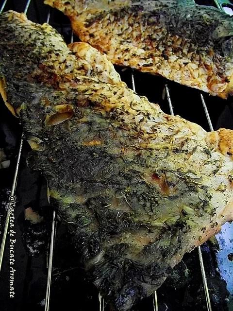 File de crap la grătar cu legume natur
