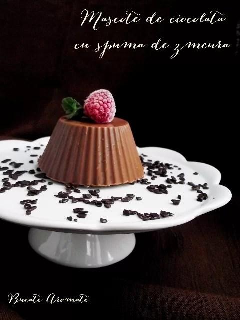 Mascote de ciocolată cu spumă de zmeură