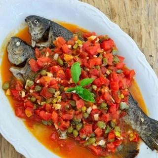 Păstrăv cu sos toscan (reţetă boierească)