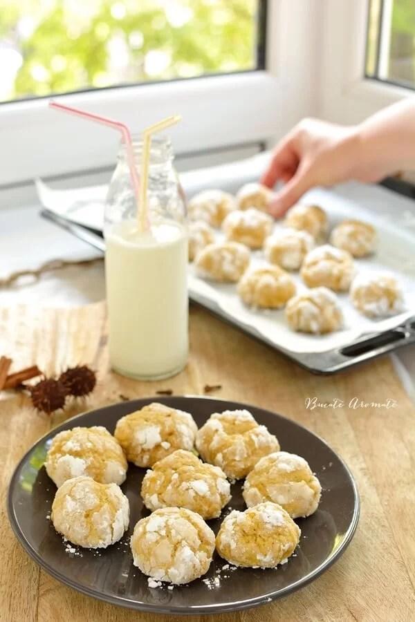 Fursecuri crăpate (crinkles) cu dovleac copt şi scorţişoară