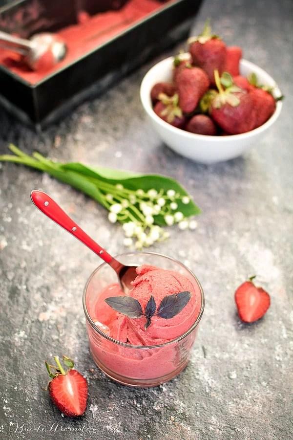 Sorbet de căpșuni și banane