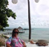 Janine enjoying a very happy hour