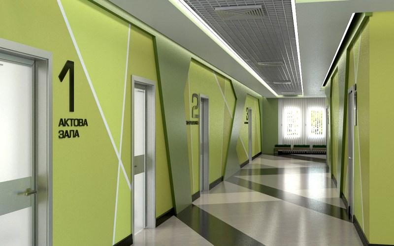 Дизайн коридора лицея 01
